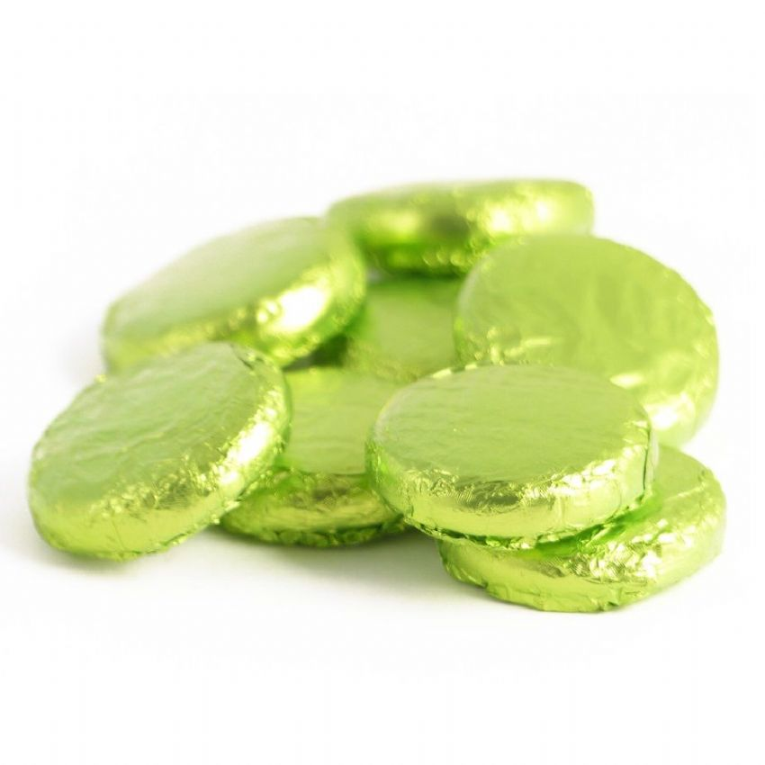 Lime Cremes - Fondant Creams Green Foiled Whitakers Chocolates